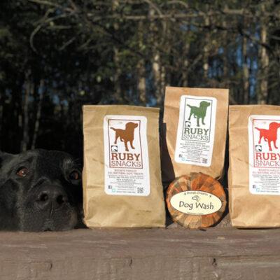 Dog Wash & Ruby Snacks Gift Pack